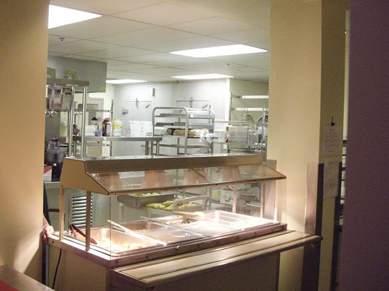 The kitchen at Southwood Hospital